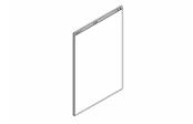 Lumibloc Miroir crédence 70 cm, rampe d'éclairage au choix.
