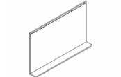 Lumibloc Miroir tablette 120 cm, rampe d'éclairage au choix