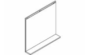 Lumibloc Miroir Tablette 80 cm, rampe d'éclairage au choix