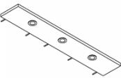 Rampe éclairage 3 spots LED 120 cm