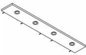 Rampe éclairage 4 spots LED 140 cm