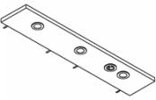 Rampe éclairage 3 spots LED + prise  105 cm