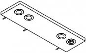 Rampe éclairage 2 spots LED + prise + interrupteur 70 cm
