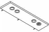 Rampe éclairage 2 spots LED + prise + interrupteur 80 cm