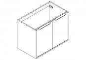 NEWPORT Meuble sous-plan de toilette avec poignées - 2 portes - 80 cm