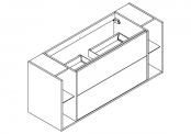 NEWPORT Meuble sous-plan de toilette avev système push-pull - 140 cm
