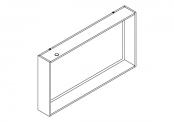 NEWPORT Miroir cadre éclairant 120 cm avec étagère