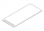 Plan compact avec porte-serviettes intégré NEWPORT 130 cm