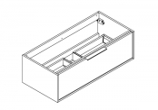 NEWPORT IN Meuble sous-plan de toilette avec poignée - 100 cm