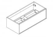 NEWPORT IN Meuble sous-plan de toilette avec système push-pull - 100 cm