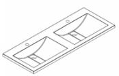 Plan de toilette CURVY 120 cm