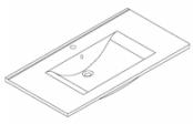 Plan de toilette C'RAM 90 cm