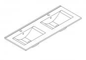 Plan de toilette MAX - 120 cm