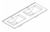 Plan de toilette C'RAM 120 cm