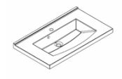 Plan de toilette MIND 80 cm