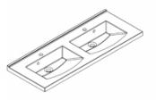 Plan de toilette MIND 120 cm