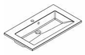 Plan de toilette PRISM solid surface 80 cm