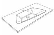 Plan de toilette DONA 90 cm