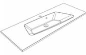 Plan de toilette DONA 120 cm