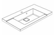 Plan de toilette D'SIGN 80 cm