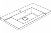 Plan de toilette D'SIGN 100 cm