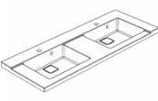 Plan de toilette D'SIGN 120 cm