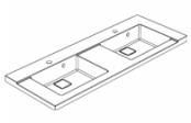 Plan de toilette D'SIGN 140 cm