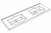 Plan de toilette MIND 140 cm