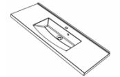 Plan de toilette MIND 120 cm vasque centrée