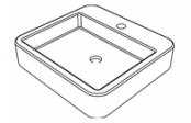 Vasque à poser carrée Melkia