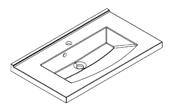 Plan de toilette MIND 90 cm