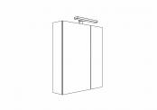 MELODIA - Armoire de toilette 60 cm