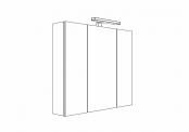MELODIA - Armoire de toilette 80 cm 3 portes