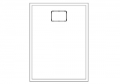 Receveur rectangulaire ROCKSTONE 120 x 90 cm